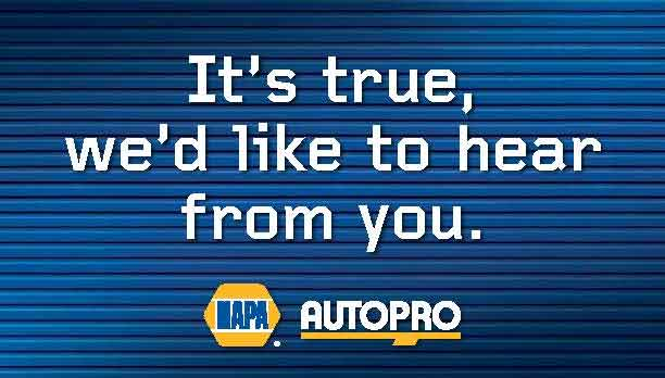 NAPA Autopro car care service